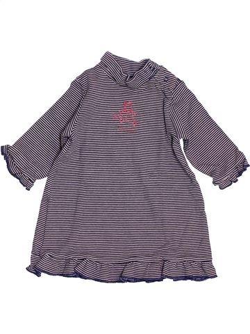 Robe fille PETIT BATEAU violet 6 mois hiver #1409632_1