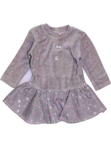 Vestido niña ABSORBA gris 6 meses invierno #1409633_1
