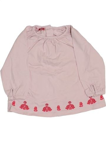 T-shirt manches longues fille DPAM rose 6 mois hiver #1409829_1