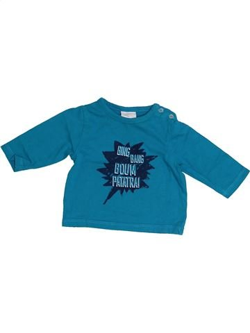 T-shirt manches longues garçon KIABI bleu 3 mois hiver #1410621_1