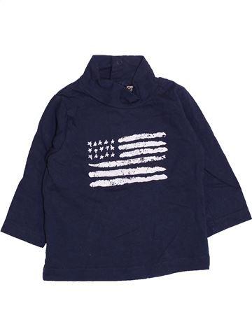 T-shirt manches longues garçon TAPE À L'OEIL bleu 6 mois hiver #1410783_1