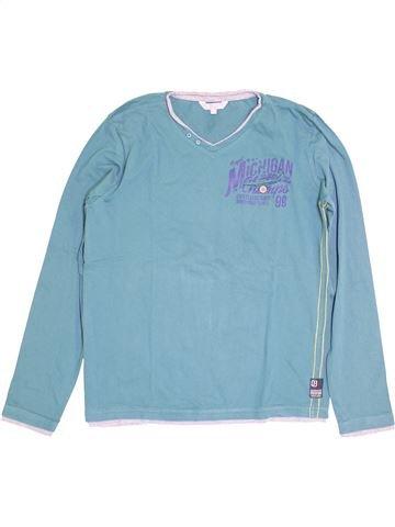 T-shirt manches longues garçon JBC bleu 14 ans hiver #1410818_1