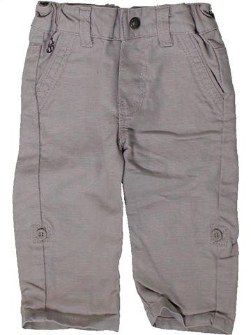 Pantalon garçon OKAIDI gris 3 mois été #1410935_1