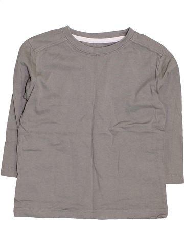 T-shirt manches longues fille VERTBAUDET gris 3 ans hiver #1411126_1