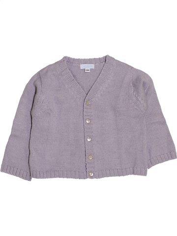 Gilet fille ACANTHE violet 12 mois hiver #1411334_1