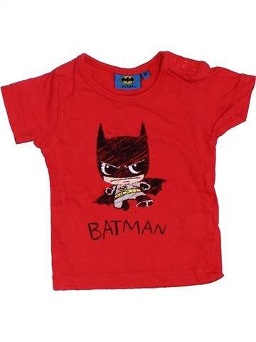 T-shirt manches courtes garçon SUPERS HÉROS rouge 3 mois été #1411478_1