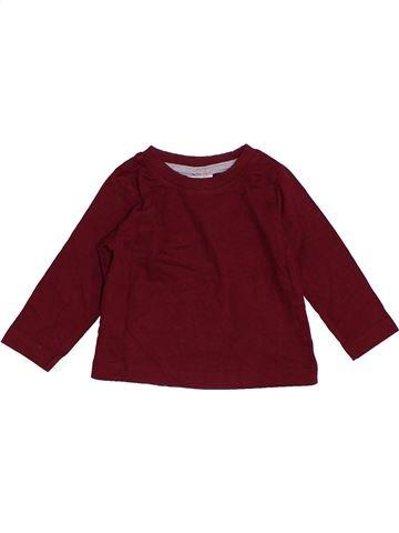 T-shirt manches longues garçon PEACOCK'S violet 6 mois hiver #1411873_1