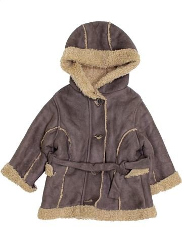 Manteau fille OKAIDI marron 6 mois hiver #1411891_1