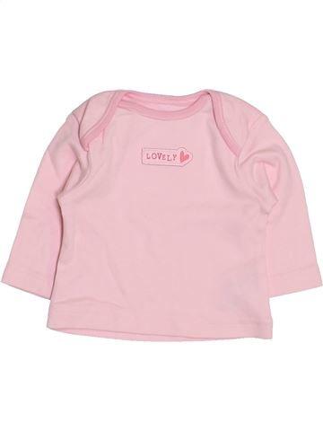 T-shirt manches longues fille GEORGE rose prématuré hiver #1412533_1