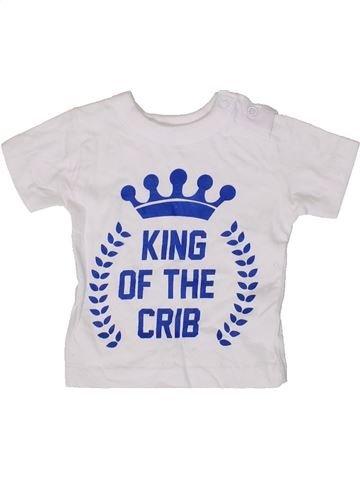 T-shirt manches courtes garçon PEP&CO blanc 3 mois été #1413624_1