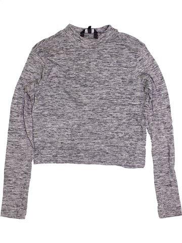Camiseta de manga larga niña NEW LOOK gris 15 años invierno #1414111_1