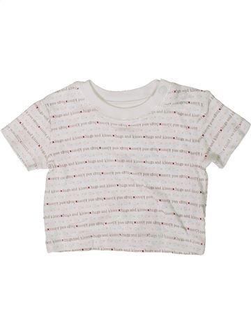 T-shirt manches courtes garçon GEORGE blanc prématuré été #1414680_1