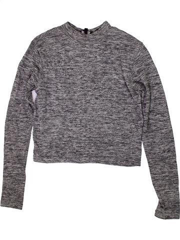 Camiseta de manga larga niña NEW LOOK gris 13 años invierno #1415435_1