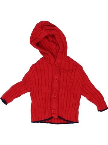 Gilet garçon JOJO MAMAN BÉBÉ rouge 6 mois hiver #1415594_1