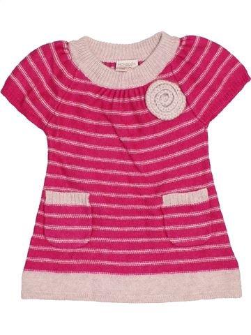 Vestido niña MONSOON rosa 6 meses invierno #1416785_1