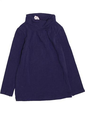 Camiseta de cuello alto niña SANS MARQUE azul 2 años invierno #1418555_1