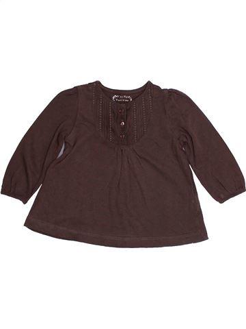 T-shirt manches longues fille BOUT'CHOU marron 6 mois hiver #1418669_1