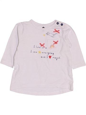 T-shirt manches longues fille GRAIN DE BLÉ blanc 3 mois hiver #1419316_1