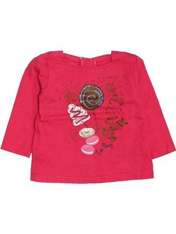 T-shirt manches longues fille LA COMPAGNIE DES PETITS rouge 12 mois hiver #1419773_1