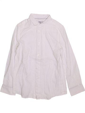 Chemise manches longues garçon CYRILLUS blanc 10 ans hiver #1419942_1
