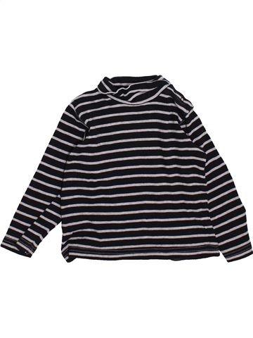T-shirt col roulé garçon GRAIN DE BLÉ gris 2 ans hiver #1420073_1