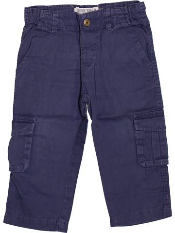 Pantalon garçon BOUT'CHOU bleu 12 mois hiver #1420434_1