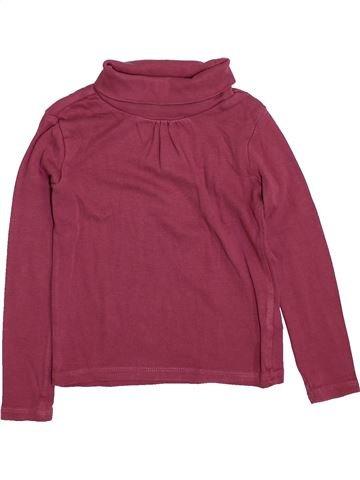Camiseta de cuello alto niña VERTBAUDET violeta 5 años invierno #1420494_1
