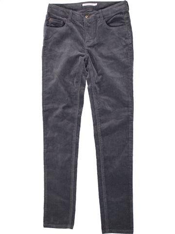Pantalon fille MONOPRIX gris 10 ans hiver #1420714_1