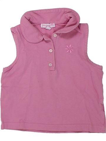 T-shirt sans manches fille GRAIN DE BLÉ rose 2 ans été #1421174_1