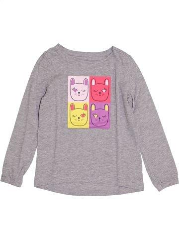Camiseta de manga larga niña VERTBAUDET rosa 4 años invierno #1421328_1