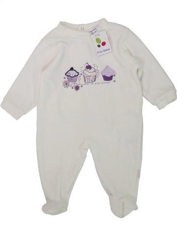 Pyjama 1 pièce fille P'TIT BISOU blanc 6 mois hiver #1421368_1