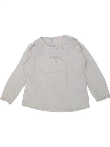Camiseta de manga larga niña VERTBAUDET gris 3 años invierno #1421412_1