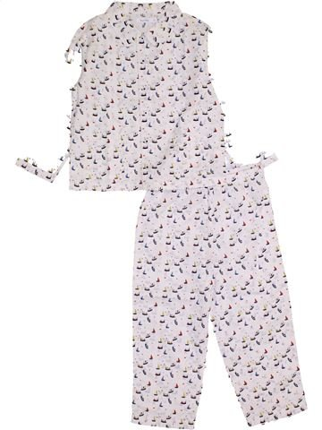 Pyjama 2 pièces garçon BOUT'CHOU blanc 3 ans hiver #1421459_1