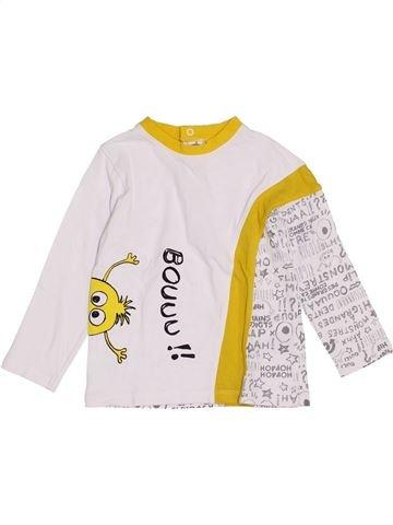 T-shirt manches longues garçon LA COMPAGNIE DES PETITS blanc 3 ans hiver #1421465_1