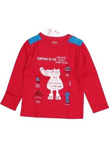 T-shirt manches longues garçon LA COMPAGNIE DES PETITS rouge 3 ans hiver #1421467_1