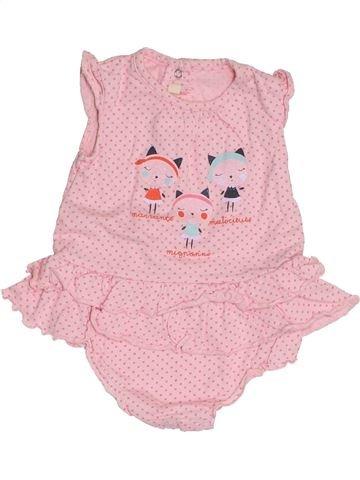 Camiseta sin mangas niña GEMO rosa 3 meses verano #1421662_1