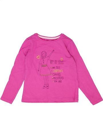 Camiseta de manga larga niña VERTBAUDET rosa 4 años invierno #1421728_1