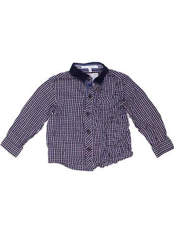 Chemise manches longues garçon JASPER CONRAN violet 3 ans hiver #1423055_1
