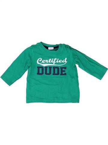 Camiseta de manga larga niño F&F verde 3 meses invierno #1423392_1