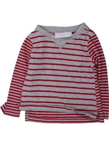 T-shirt manches longues garçon THE LITTLE WHITE COMPANY violet 6 mois hiver #1423936_1