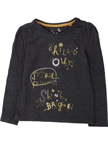 Camiseta de manga larga niña TU negro 3 años invierno #1423960_1