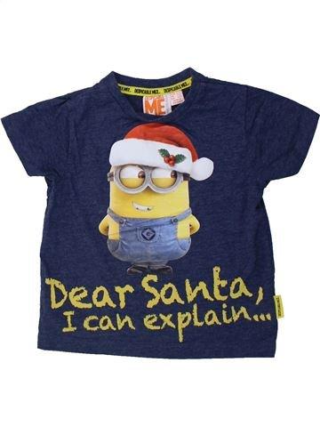 T-shirt manches courtes garçon LES MINIONS bleu 3 ans hiver #1424034_1