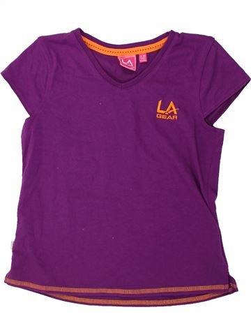 T-shirt manches courtes fille LA GEAR violet 10 ans été #1424297_1