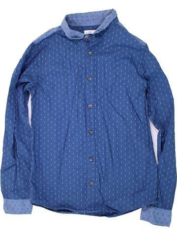 Chemise manches longues garçon M&CO bleu 13 ans hiver #1424430_1