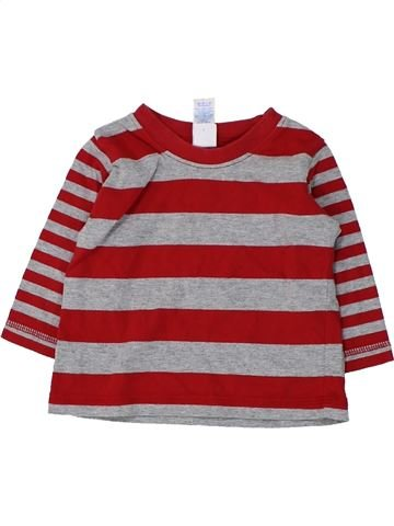 T-shirt manches longues garçon ADAMS violet 6 mois hiver #1424472_1