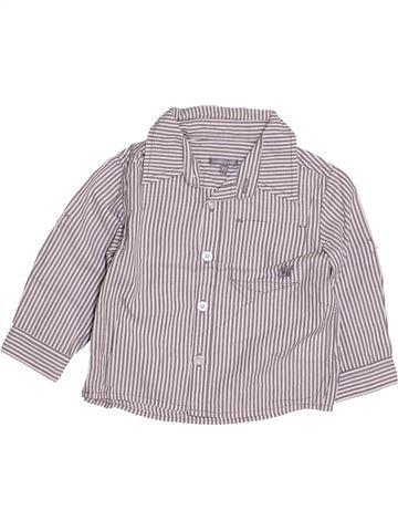 Chemise manches longues garçon JBC gris 6 mois hiver #1425705_1