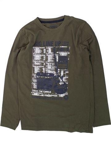 T-shirt manches longues garçon TCHIBO vert 12 ans hiver #1425739_1