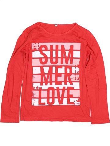 T-shirt manches longues fille SANS MARQUE orange 8 ans hiver #1425826_1