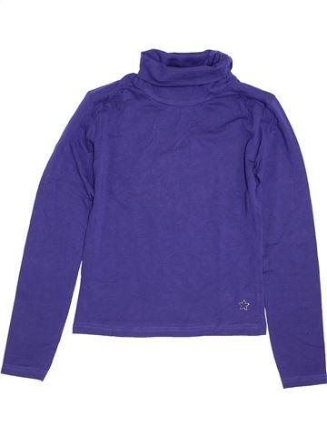 T-shirt col roulé fille JBC violet 10 ans hiver #1426182_1