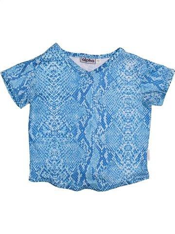 T-shirt manches courtes fille ALPHABET bleu 10 ans été #1426365_1